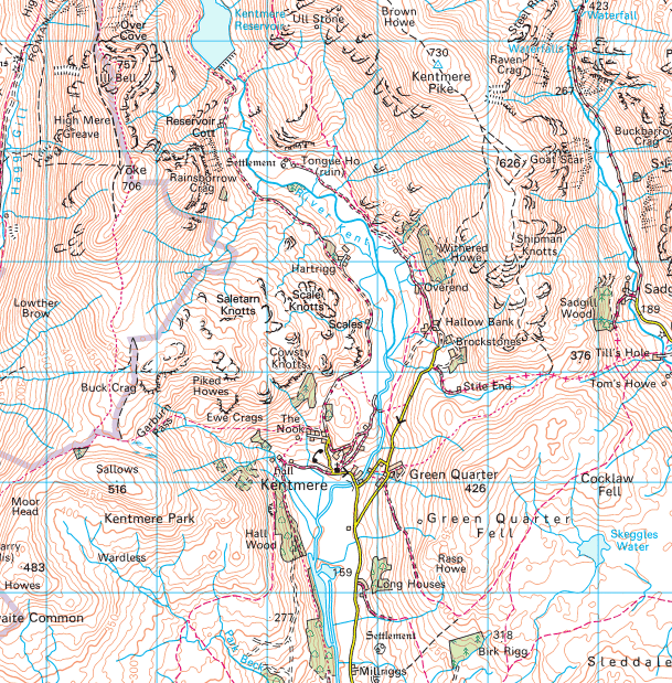 Map of Kentmere